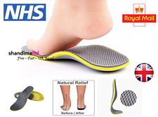 Pair Orthotic Flat Feet Foot High Arch Heel Support Shoe Inserts Insoles Pads UK