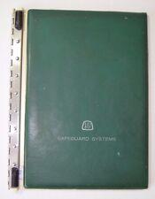 "1 Vintage 12.5"" x 9.5"" Dark Vinyl Safeguard Business Systems Post Binder"