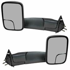 For 94-01 Dodge Ram Pickup Towing Tow Side View Mirror Manual+Brackets Set pair