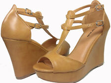 NEW SIZE 8 CAMEL HIGH HEEL WEDGE SUMMER PLATFORM SANDAL WOMAN OPEN TOE SHOE W1 S