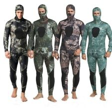 3mm 2 Pieces Camouflage Spearfishing Diving Surf Scuba Hooded Hood Men Wetsuit