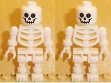 Lego Minifig Skeleton x 2  White Skeleton Minifigures