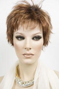 Chelsea Short Shag  by Jon Renau Sultry Layer Wavy Straight Wigs Open Cap
