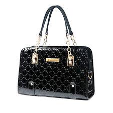 Women's Leather Handbag Shoulder Bags Tote Purse Lady Messenger Hobo Bag Black