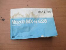 Mazda MX6/626 Fourth Gen Owners Manual 1987 - 1992