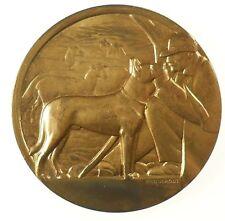France canine award SHEEP DOG gilt-bronze 50mm by Briquemont