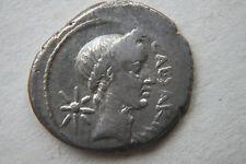 Qualità romana Ritratto Giulio Cesare Argento Denarius Coin 1st secolo A.C.