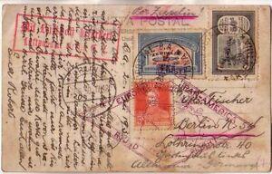 Argentina - 1930 Tierra del Fuego ppc circulated to Berlin