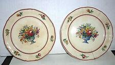 Two Antique Vintage 1900  V&B Saar Basin NS&S FLORALIA 1577 Sm. Desert Dishes