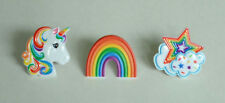 12 Rainbow Unicorn Star Cloud Cup Cake Rings Topper Party Goody Bag Favor Supply