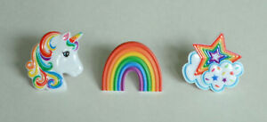12 Rainbow Unicorn Star Cloud Cup Cake Rings Topper Kid Birthday Party Bag Favor