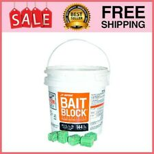 Bait Block Rodenticide Mouse Mice Rat Rodent Killer Poison Food 144 Blocks 9Lbs