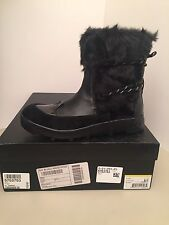 Joe's Jeans Donovan Black Leather Warm Lined Winter Boots Size 7M * NEW
