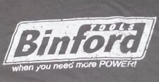 "Gray Shirt Men's Large Binford Tools ""When you need more POWER!"" Graphic TeeD11"