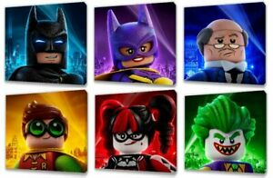 LEGO BATMAN MOVIE CHARACTERS CANVAS PICTURE 6 DESIGNS TO CHOOSE FROM