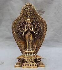 "16"" tibet buddhism bronze Avalokitesvara Kwan-Yin Guan Yin buddha goddess statue"