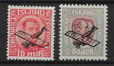 ICELAND SG156/7 1928-9 AIR STAMPS MTD MINT