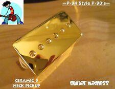 P-94 Style Humbucker sized P-90 Neck Pickup Gold (Ceramic 5)