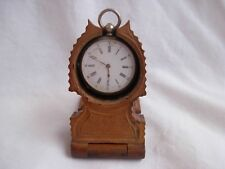 ANTIQUE BLACK FOREST CARVED WOOD POCKET WATCH HOLDER,LATE 19th CENTURY