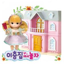 Little Mimi Two-Story House Toy Set  Korean Barbie Doll for Girl Kids