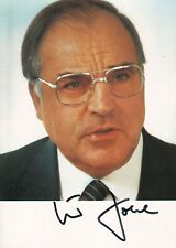 More details for helmut kohl autograph hand signed photograph original chancellor of germany