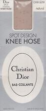 Christian DIOR-Spot Design-tubo al ginocchio-Taglia unica-NATURALE - (Nuovo Di Zecca)