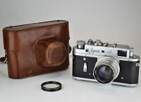 "EARLY EDIOTION! RUSSIAN USSR ""ZORKI 4"" CAMERA + JUPITER-8 LENS f2/50mm (17)"