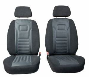 Vordersitzbezüge Stripes Grau Autositzbezüge Universal Schonbezüge Fiat Stilo