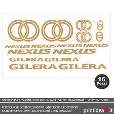 FOGLIO ADESIVO SCOOTER GILERA NEXUS 125/300/500 STICKERS ADESIVI ORO