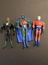 justice league unlimited action figure lot Green Lantern Martian Manhunter Orion