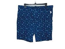 Izod Martini Theme Blue Shorts 42 Men New Saltwater
