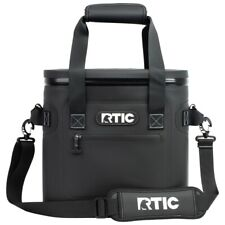 RTIC Soft Pack 20 Insulated Cooler Bag Plus Ice Leakproof Foam Pack   Black