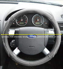 UNIVERSAL FAUX LEATHER GREY STEERING WHEEL COVER JD003-GRY  JEP