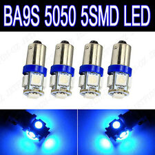 4 X Blue BA9S T11 5-SMD LED Dash Instrument Panel Glove Box Interior Light Bulbs
