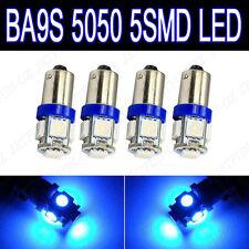 4 X Blue BA9S T11 5-SMD LED Dash Instrument Panel Glove Box Interior Light Bulbs