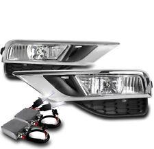 15-16 HONDA CR-V CRV BUMPER DRIVING FOG LIGHT LAMP CHROME W/50W 8K HID KIT+BEZEL