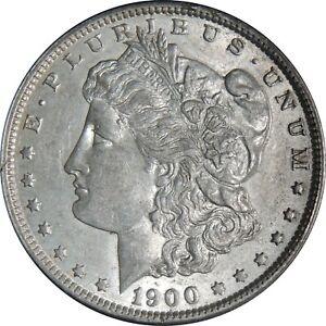1900-O $1 MORGAN SILVER DOLLAR XF/AU DETAILS TINY RIM NICKS OBV (102221005)