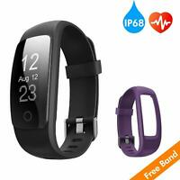 runme Fitness Tracker with 24/7 Activity and Sleep Tracking Heart Rate Monitor
