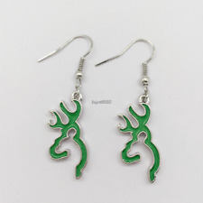 Jewelry, Browning Jewelry,Gift (Green) De01 Browning Deer Earrings , Fashion