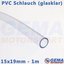1m 15x19mm Weich PVC Schlauch glasklar Sandstrahlschlauch kein Silikonschlauch