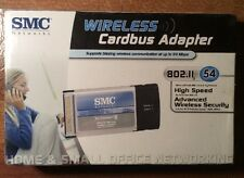 SMC Wireless Cardbus Adapter 802.11 54MBPS SMCWCB-G PCMCIA II Laptop New In Box!