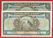 BANQUE NATIONALE DE LA REPUBLIQUE D'HAITI L. 1919 4TH ISSUE 1 GOURDE P#170 CH CU