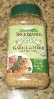 SPICE ISLANDS ORGANIC Garlic & Herb Seasoning, 17.6 OZ.