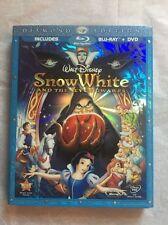 Disney Snow White And The Seven Dwarfs Blu-Ray/DVD Diamond Edition + SLIPCOVER