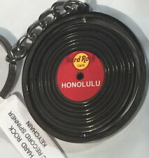 Hard Rock Cafe HONOLULU 2014 HRC Vinyl Record Spinner KEYCHAIN Brand NEW Metal!
