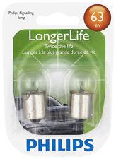 License Light Bulb-LongerLife - Twin Blister Pack Philips 63LLB2