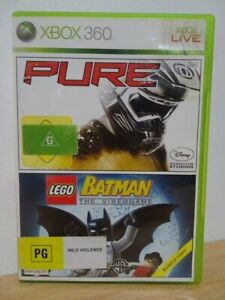 Pure / Lego Batman...XBOX 360 Game... FREE POST AU