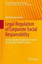 CSR, Sustainability, Ethics and Governance: Legal Regulation of Corporate...
