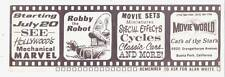 Robby The Robot on 1971 MOVIE WORLD CARS OF THE STARS museum promotional card