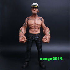 """1/6 Hot Sale 12"""" Popeye the Sailor Man Resin Statue Figure Toy TATTOO BODY Model"""